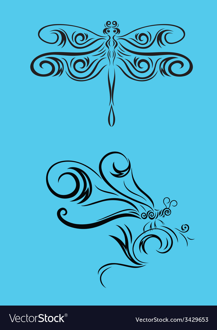 Dragonfly set vector | Price: 1 Credit (USD $1)