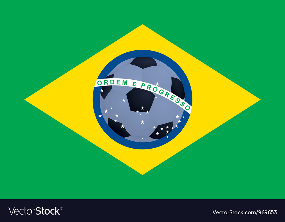 Flag of brazil vector | Price: 1 Credit (USD $1)