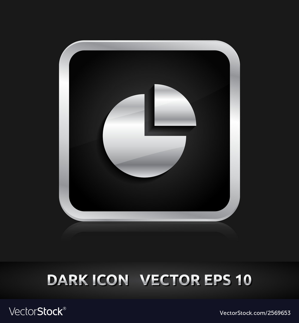 Graph statistics icon silver metal vector | Price: 1 Credit (USD $1)
