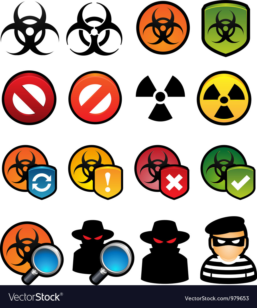 Malware icons vector | Price: 1 Credit (USD $1)