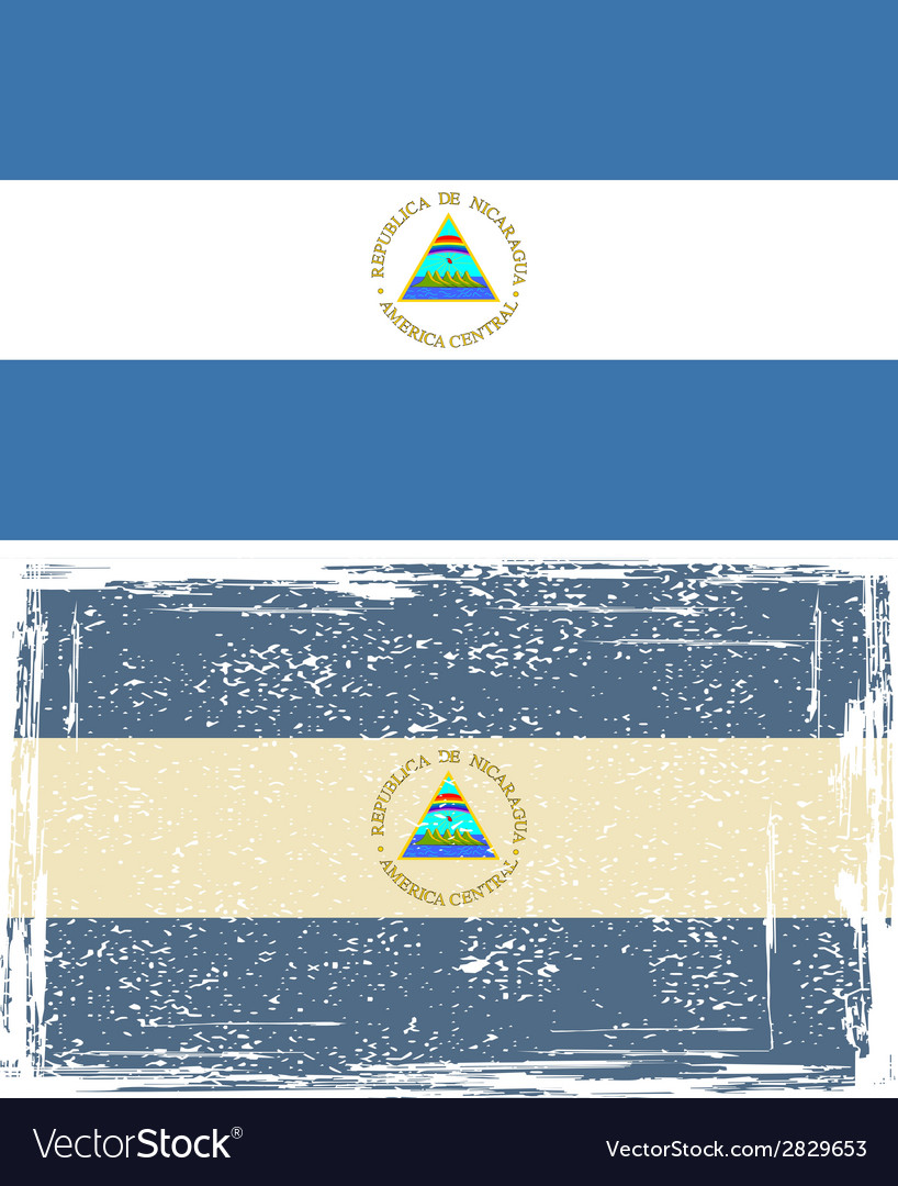 Nicaraguan grunge flag  grunge effect can be vector | Price: 1 Credit (USD $1)
