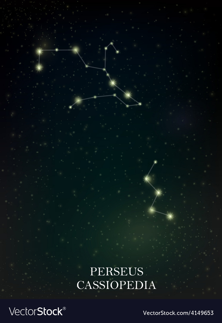 Perseus and cassiopedia constellation vector | Price: 1 Credit (USD $1)