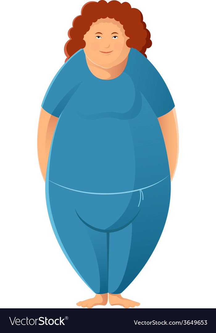 Plump woman vector | Price: 1 Credit (USD $1)