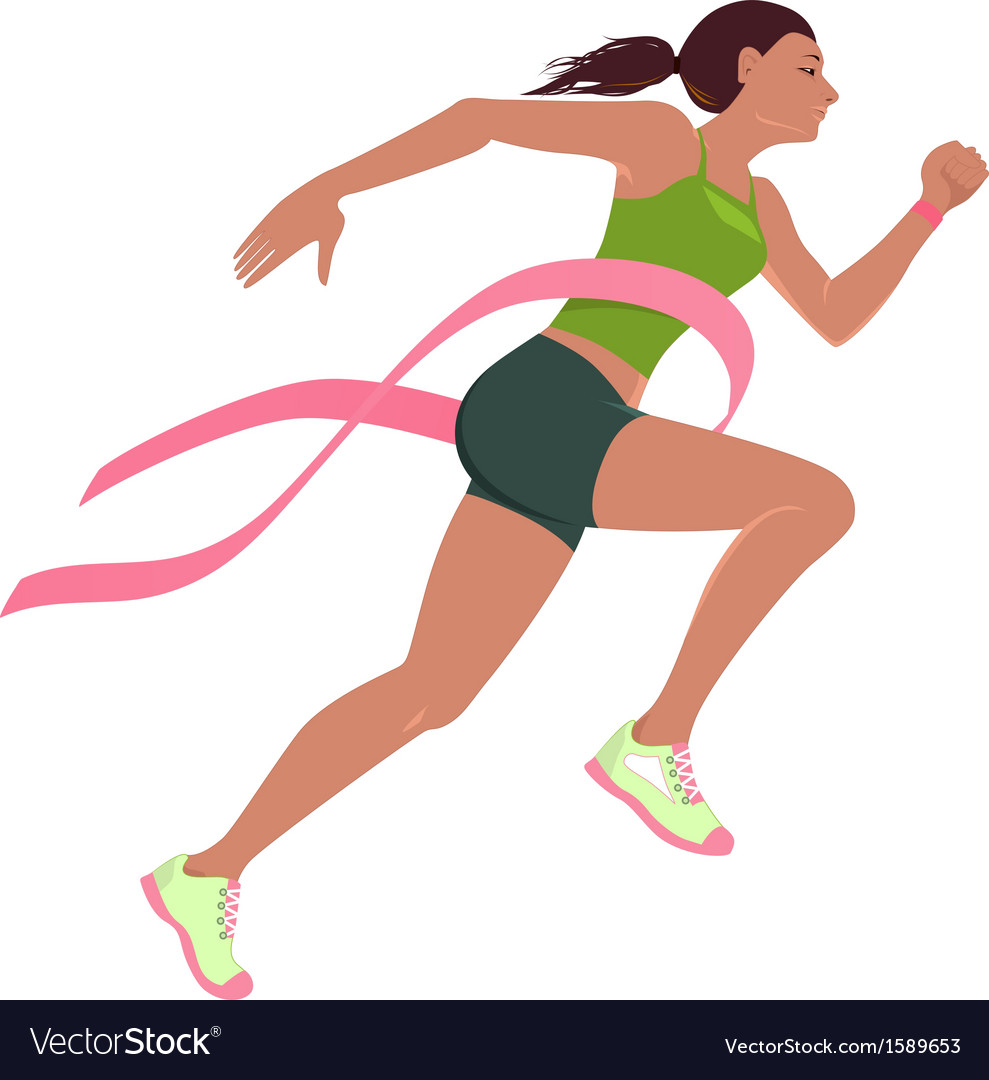 Run for the cure for breast cancer vector | Price: 1 Credit (USD $1)
