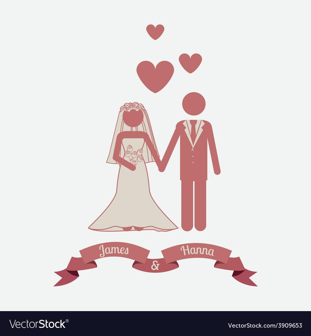 Wedding design over white background vector   Price: 1 Credit (USD $1)