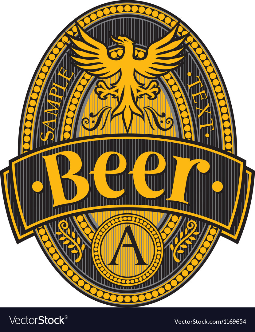 Beer label design vector | Price: 1 Credit (USD $1)