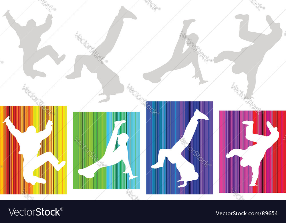 Break-dancers vector | Price: 1 Credit (USD $1)