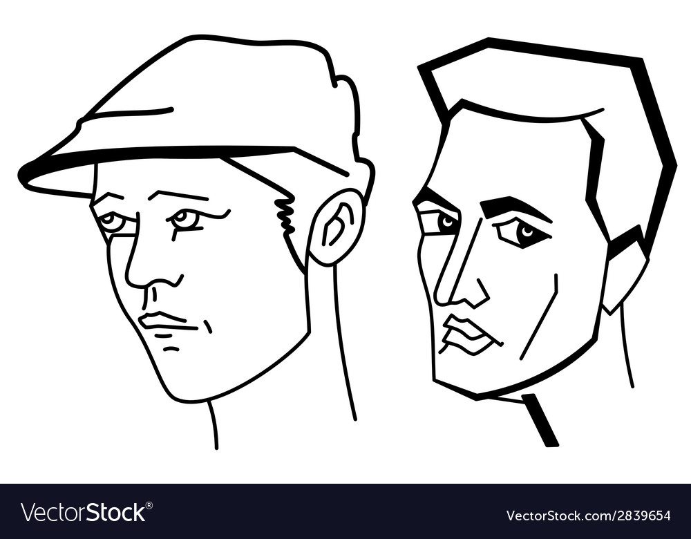 Cartooning faces of the man vector | Price: 1 Credit (USD $1)