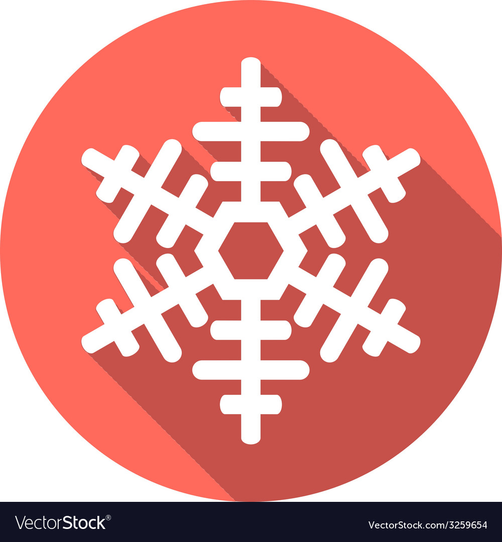Flat colored simple winter snowflakes vector   Price: 1 Credit (USD $1)