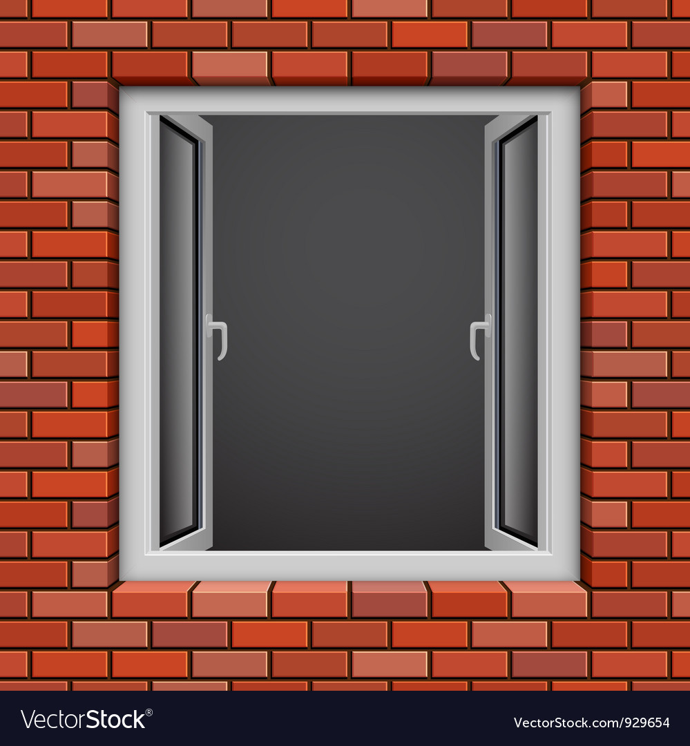 Redbrick window vector | Price: 1 Credit (USD $1)