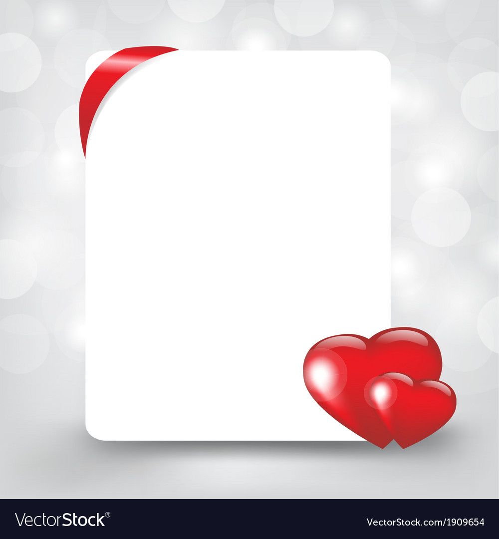 Silver card with hearts vector | Price: 1 Credit (USD $1)