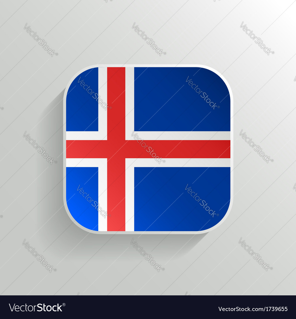 Button - iceland flag icon vector | Price: 1 Credit (USD $1)