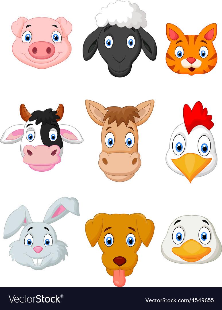 Cartoon farm animal set vector | Price: 1 Credit (USD $1)
