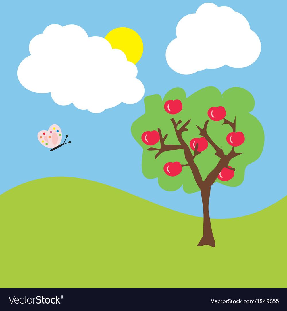 Cartoon garden vector   Price: 1 Credit (USD $1)