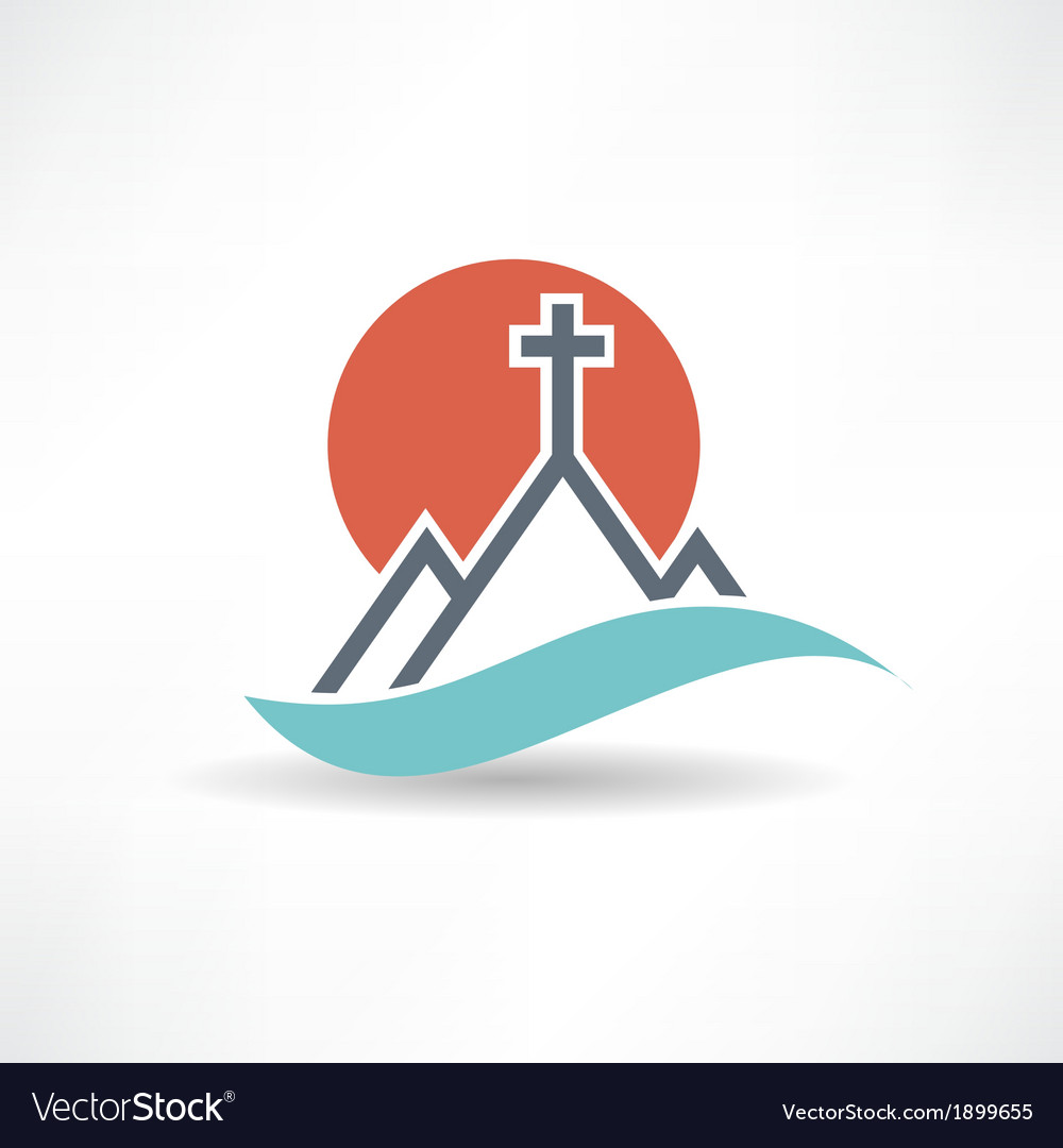 Church sun abstract icon vector | Price: 1 Credit (USD $1)