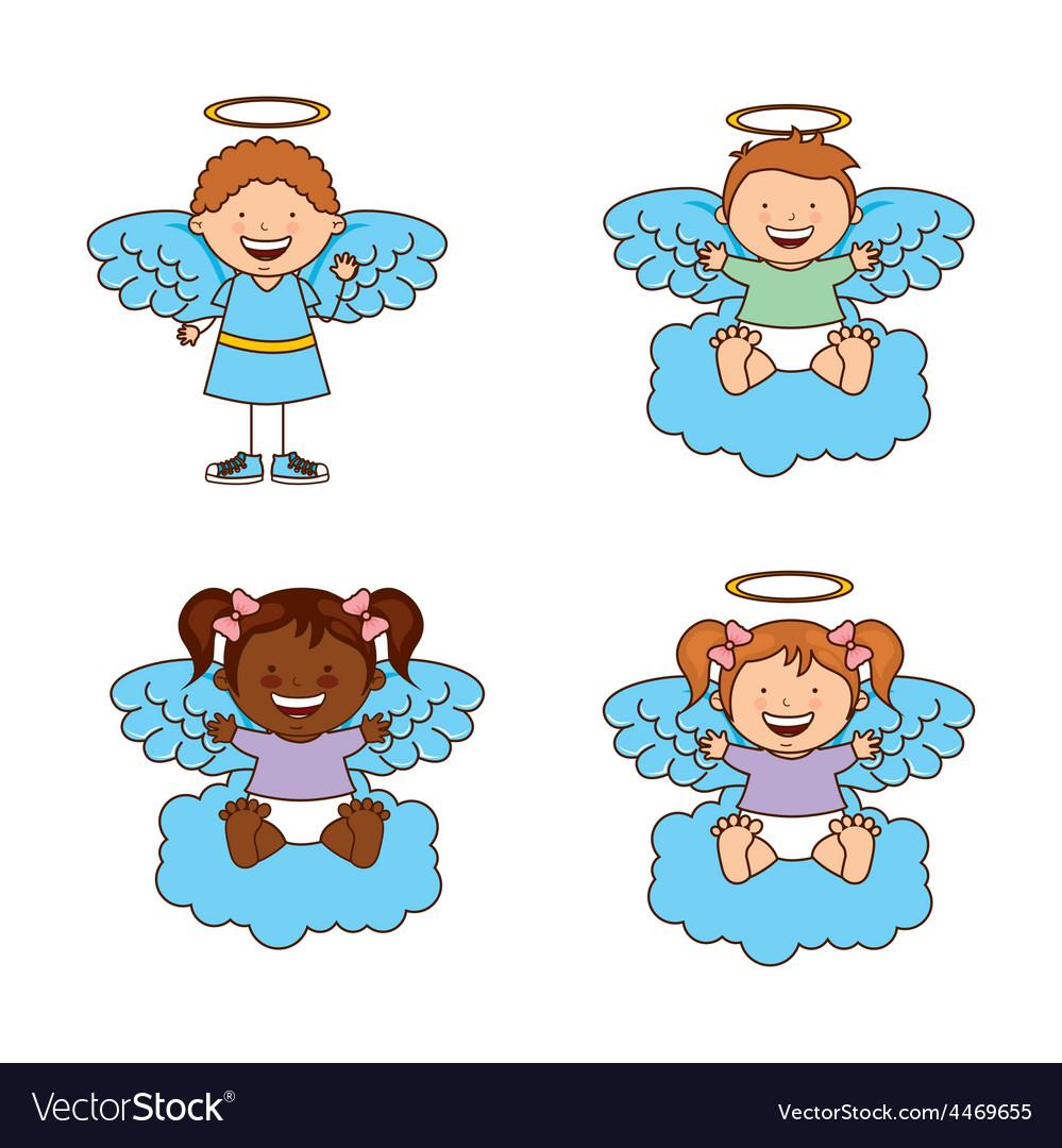 Cute angels vector | Price: 1 Credit (USD $1)