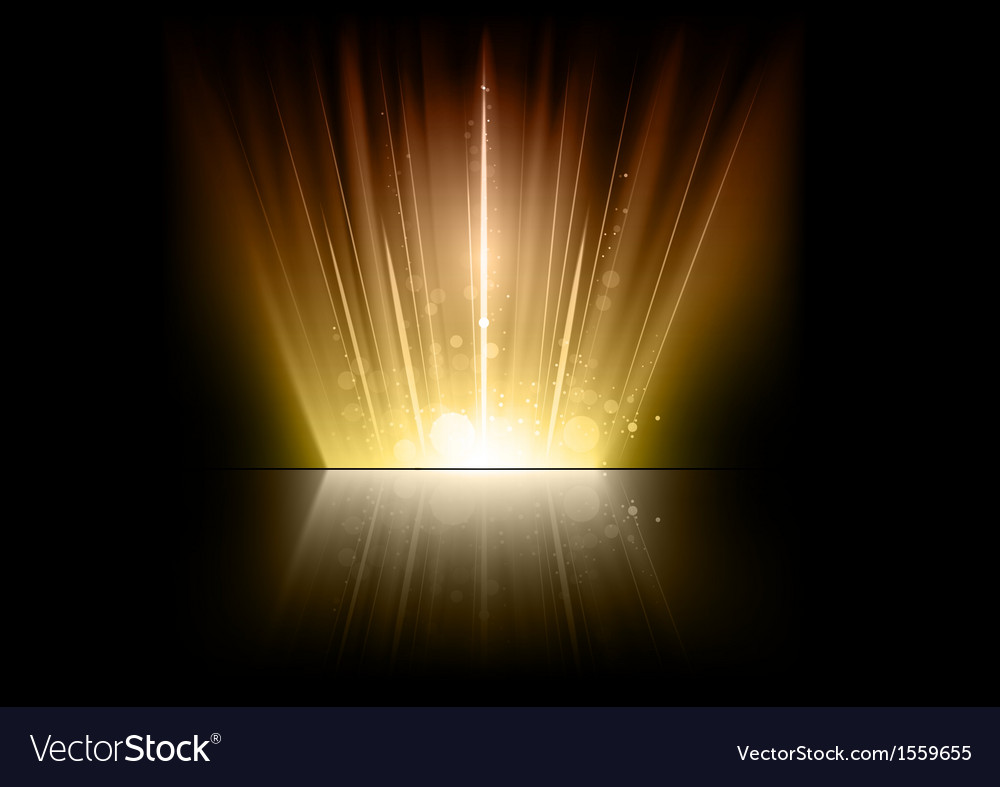 Flare gold mirror vector | Price: 1 Credit (USD $1)