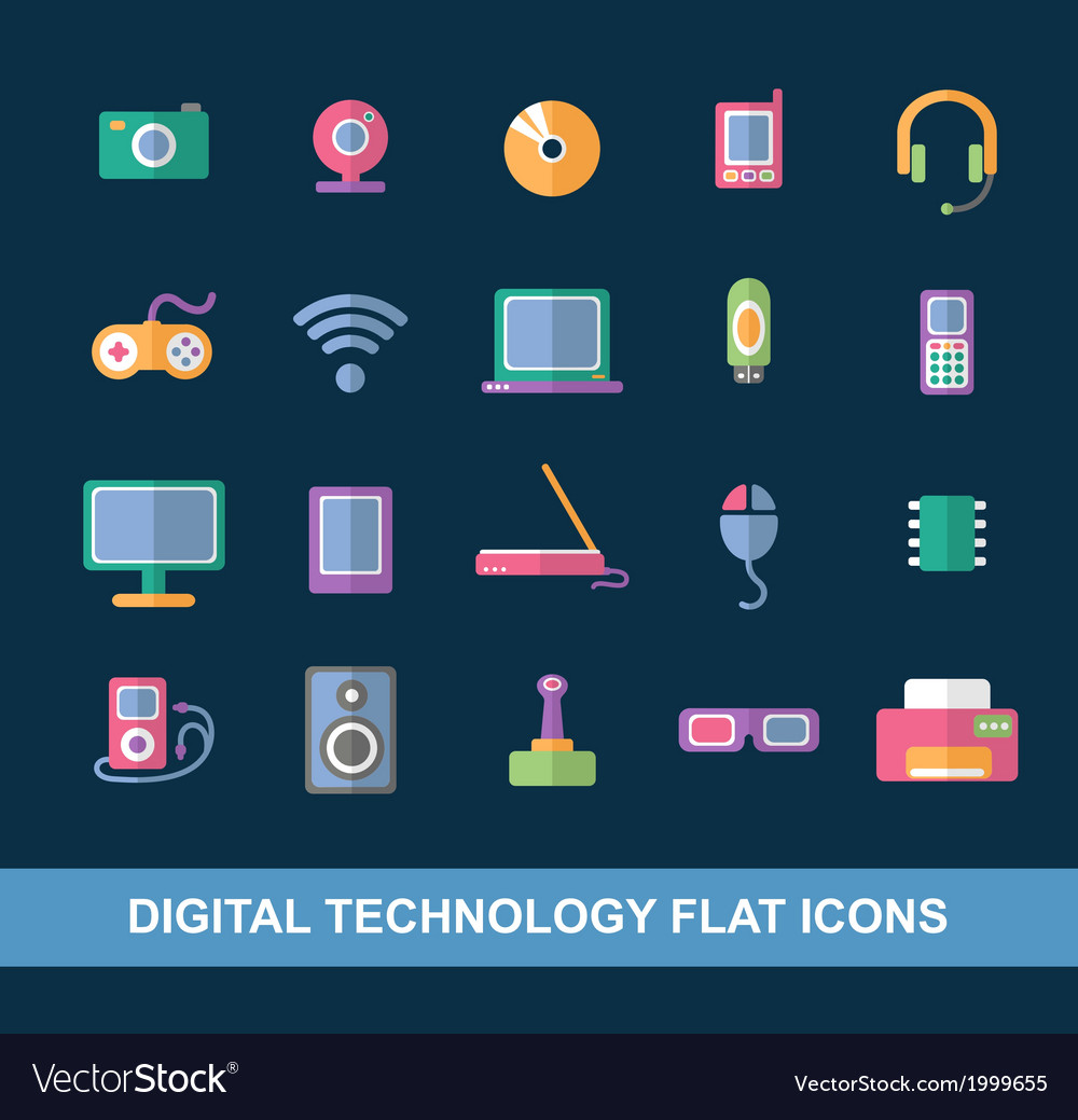 Flat icons vector   Price: 1 Credit (USD $1)