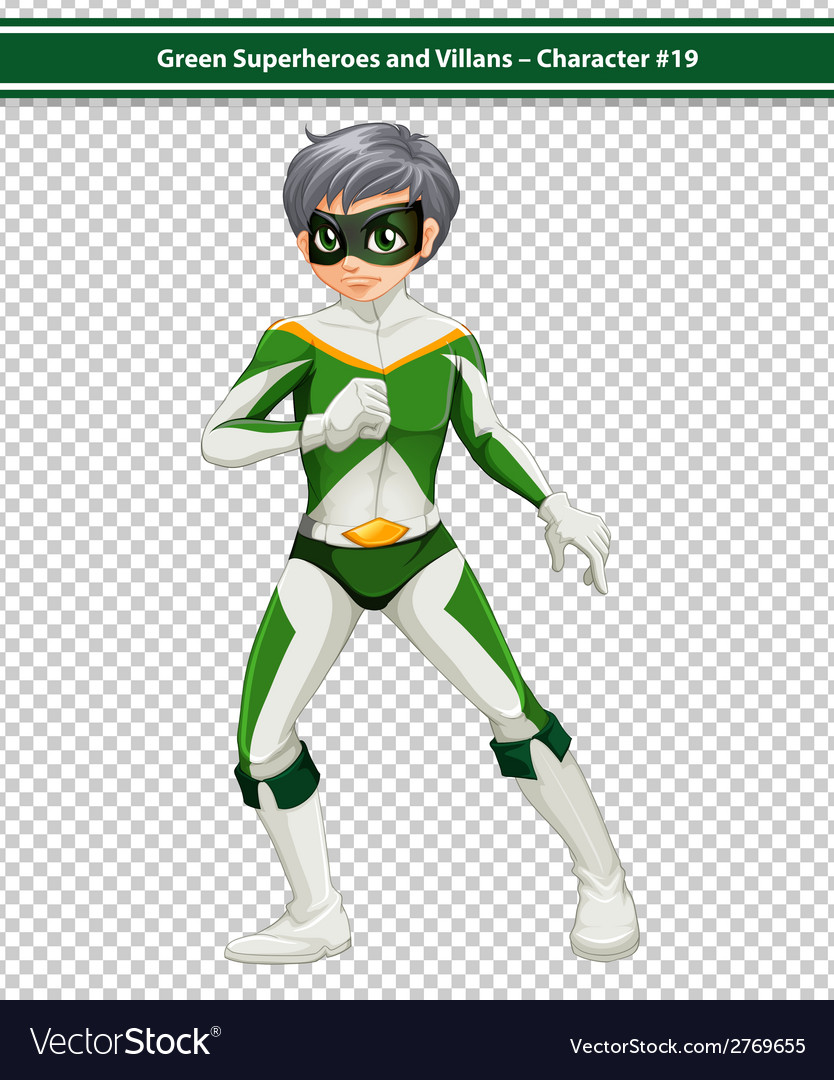 Green superhero vector | Price: 1 Credit (USD $1)