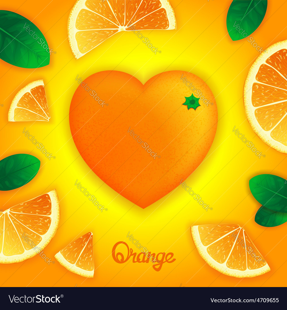 Oranges art composition vector | Price: 1 Credit (USD $1)