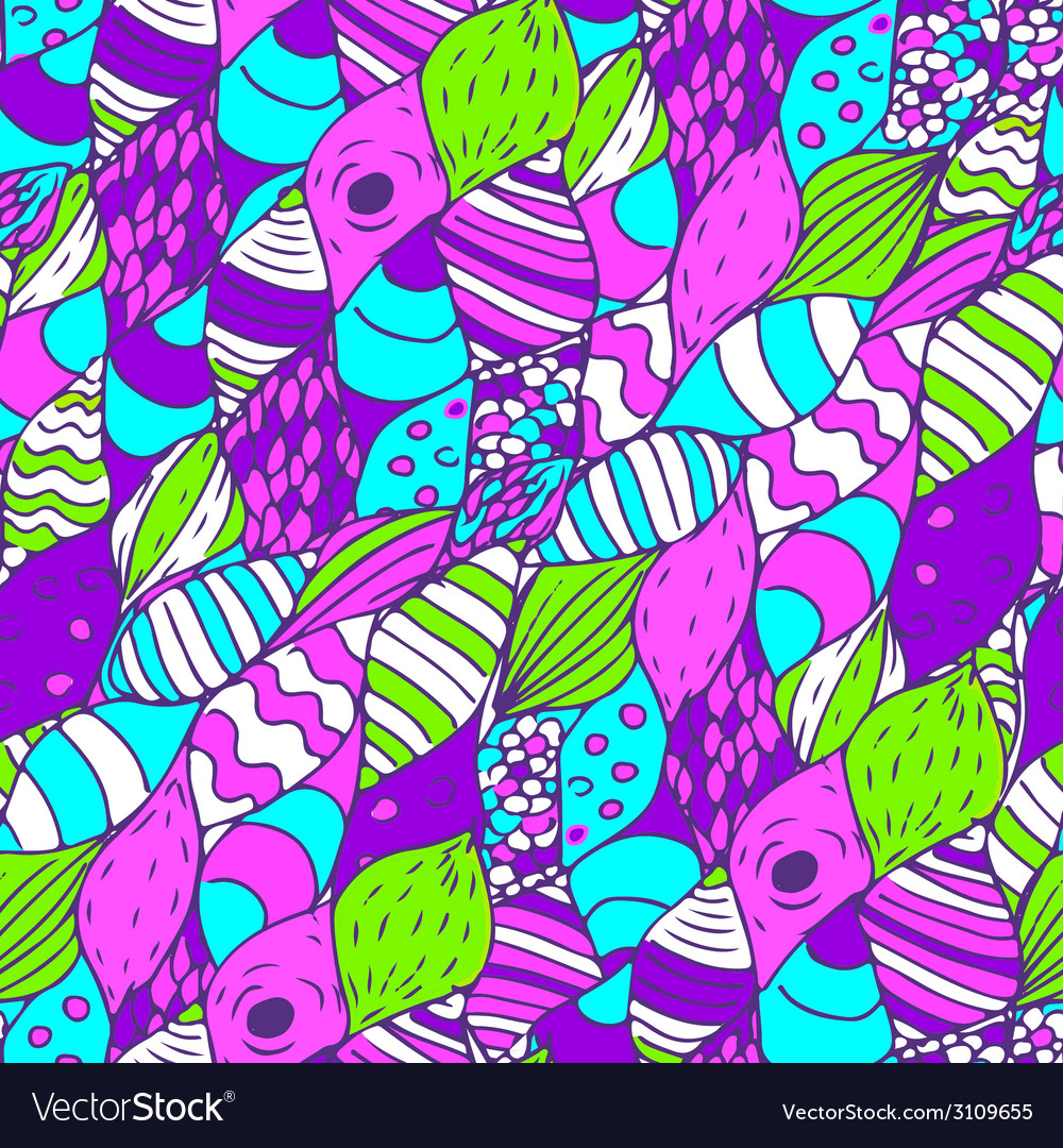 Seamless hand drawn pattern bright vector | Price: 1 Credit (USD $1)