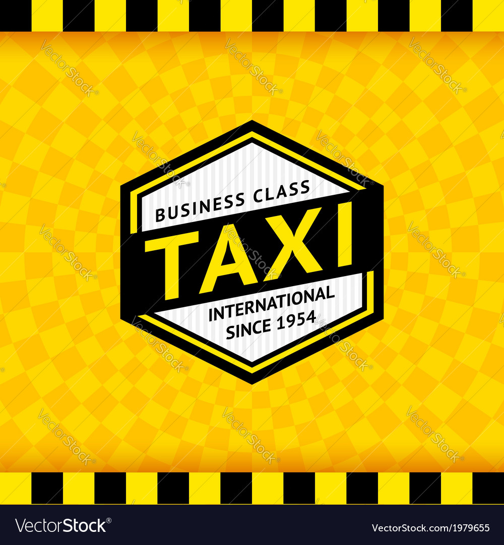 Taxi symbol with checkered background - 09 vector | Price: 1 Credit (USD $1)