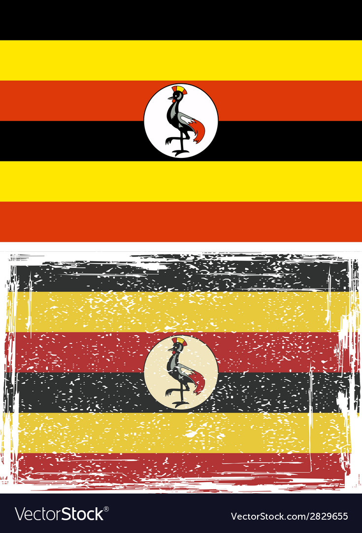 Uganda grunge flag  grunge effect can be cleaned vector | Price: 1 Credit (USD $1)