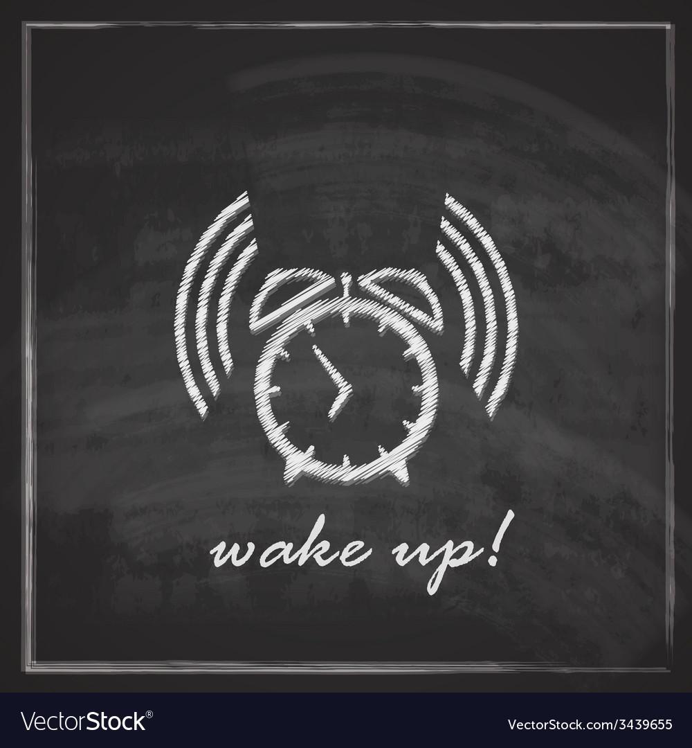 Vintage with alarm clock sign on blackboard vector   Price: 1 Credit (USD $1)