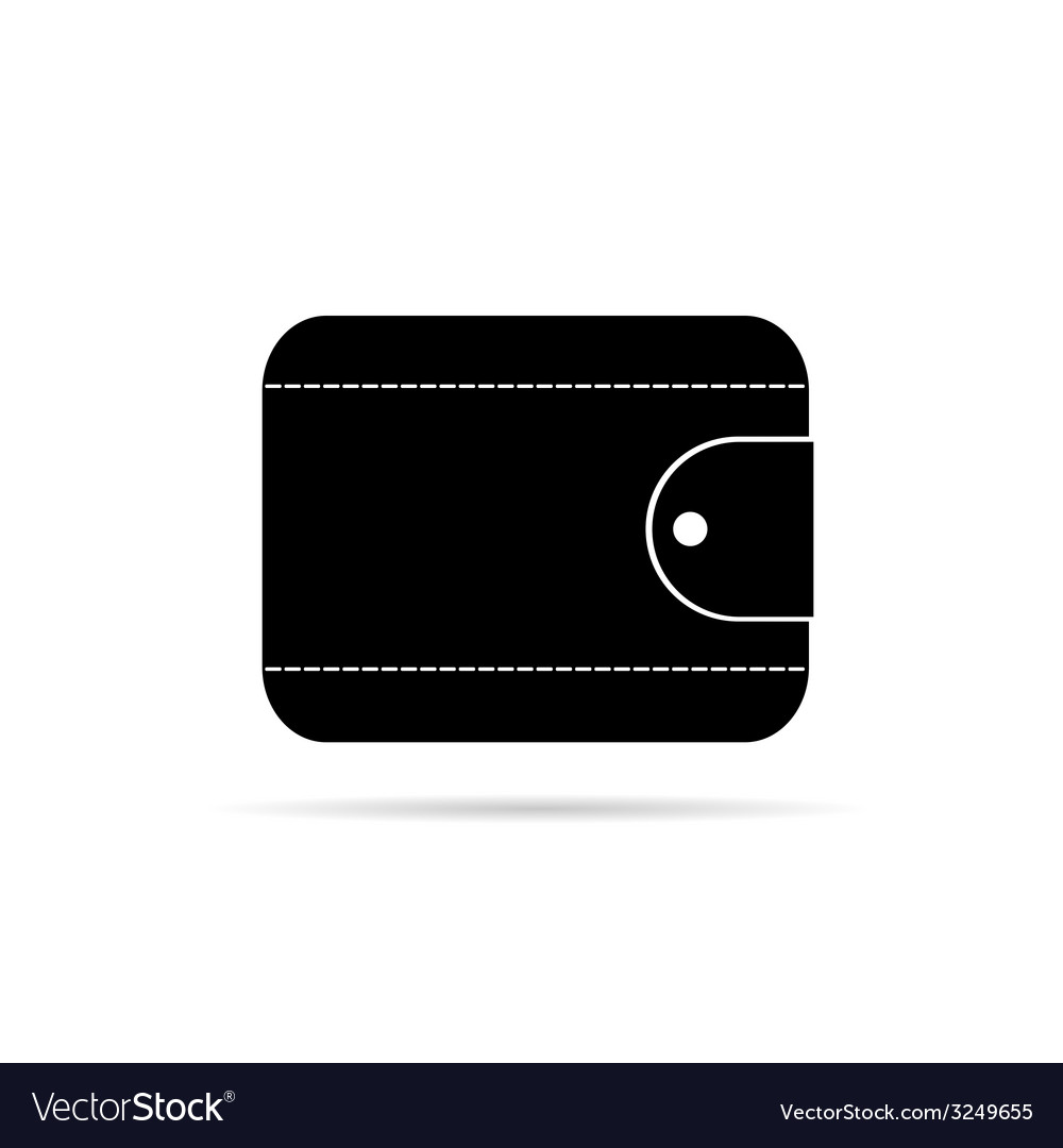 Wallet in black icon vector | Price: 1 Credit (USD $1)