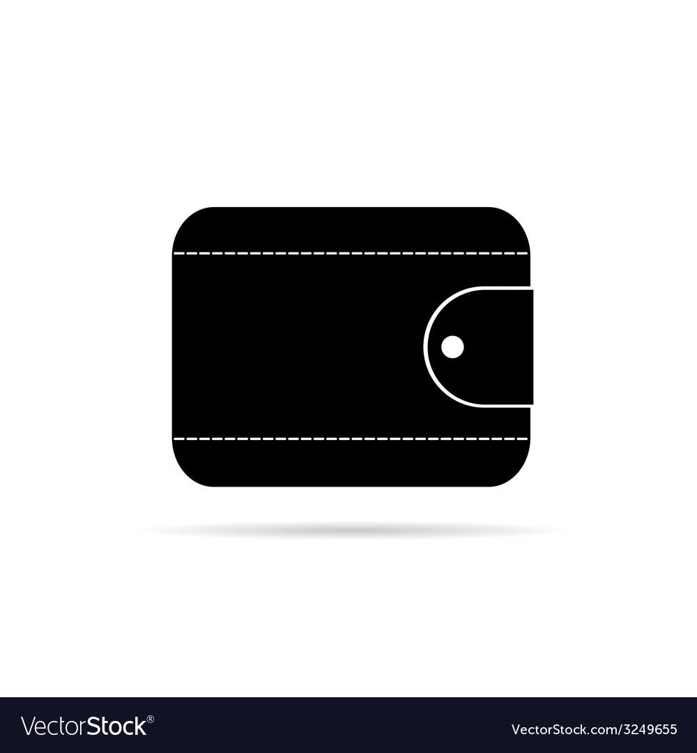 Wallet in black icon vector | Price: 1 Credit (USD $1)
