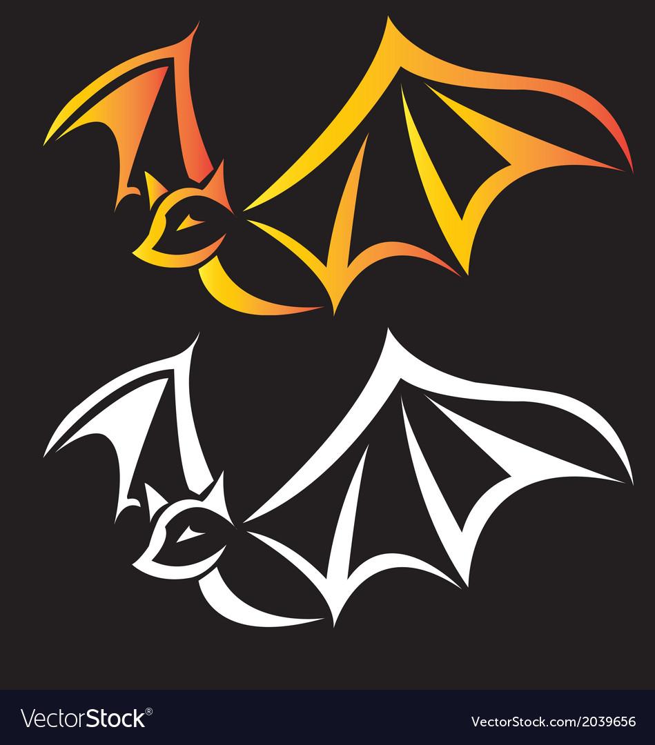 Bat tribal animals vector | Price: 1 Credit (USD $1)