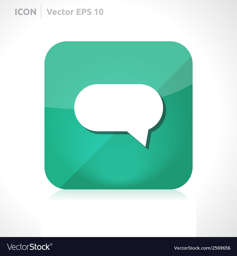 Bubble comment icon vector | Price: 1 Credit (USD $1)