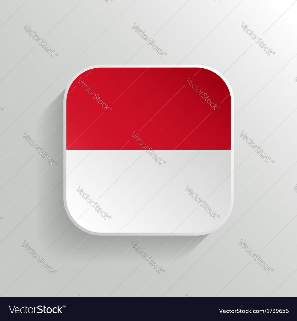 Button - indonesia flag icon vector | Price: 1 Credit (USD $1)