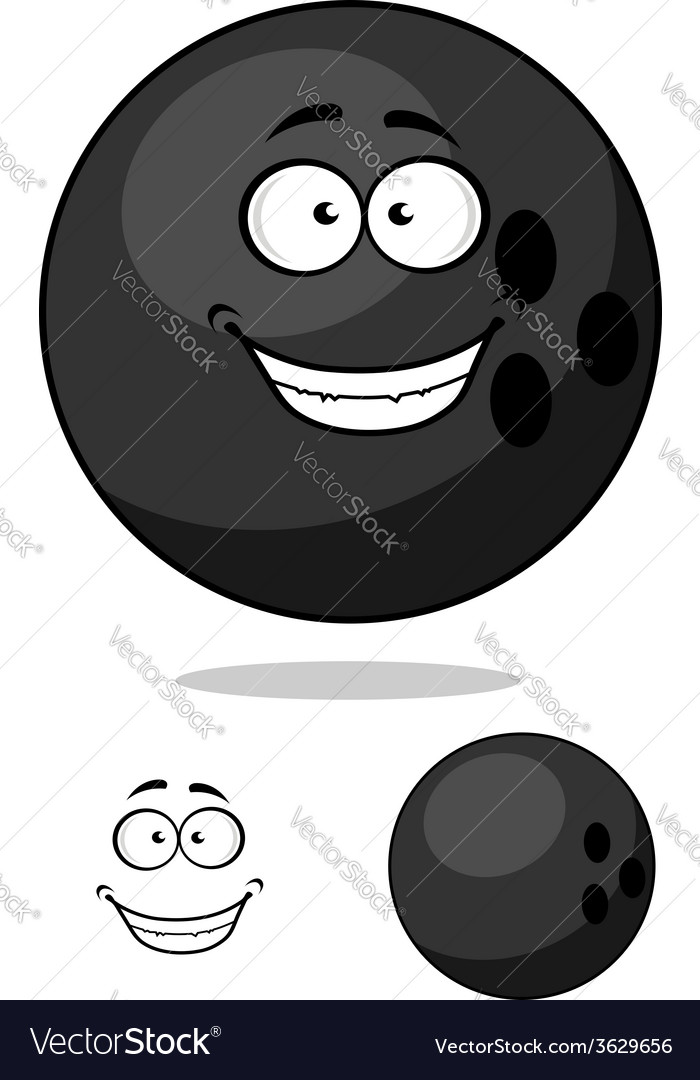 Cartooned bowling ball vector | Price: 1 Credit (USD $1)
