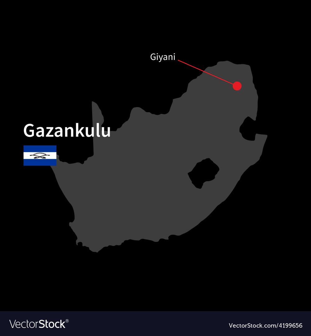 Detailed map of gazankulu and capital city giyani vector   Price: 1 Credit (USD $1)