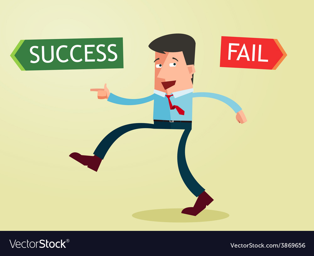 Direction to success vector | Price: 1 Credit (USD $1)
