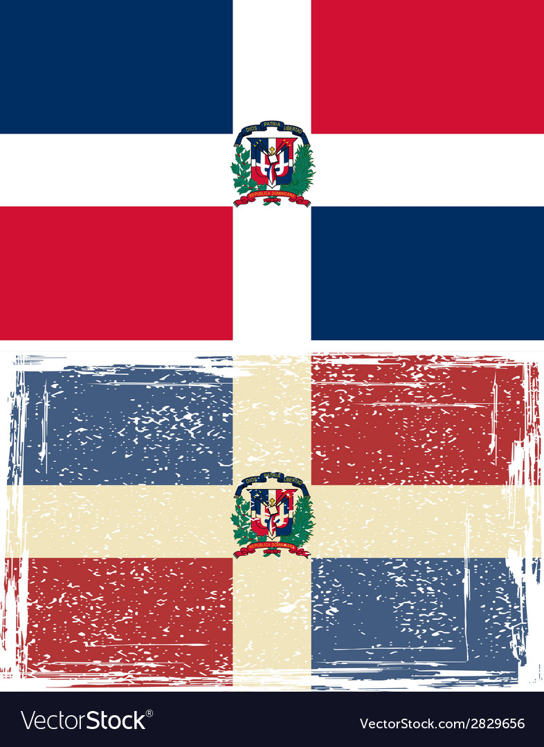 Dominican republic grunge flag  grunge effect can vector | Price: 1 Credit (USD $1)