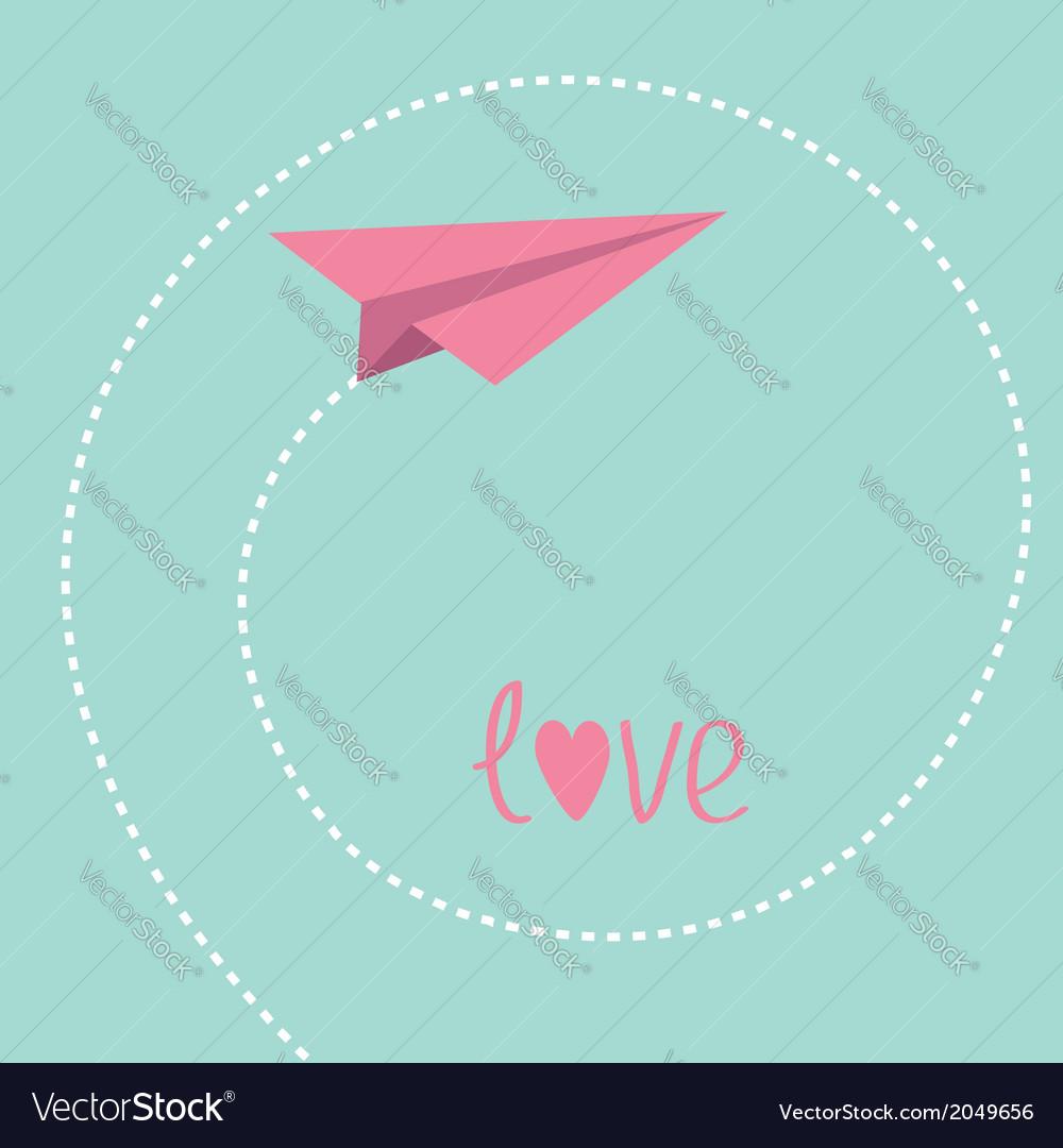 Origami paper plane dash spiral in the sky love vector | Price: 1 Credit (USD $1)