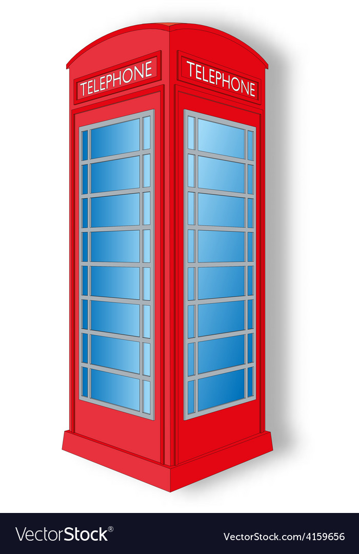 Red telephone cabin vector | Price: 1 Credit (USD $1)