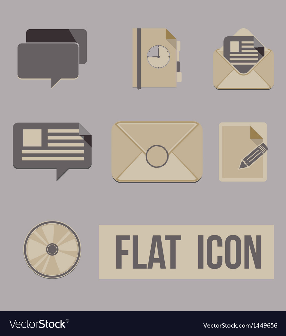 Set icons modes of message flat vector | Price: 1 Credit (USD $1)