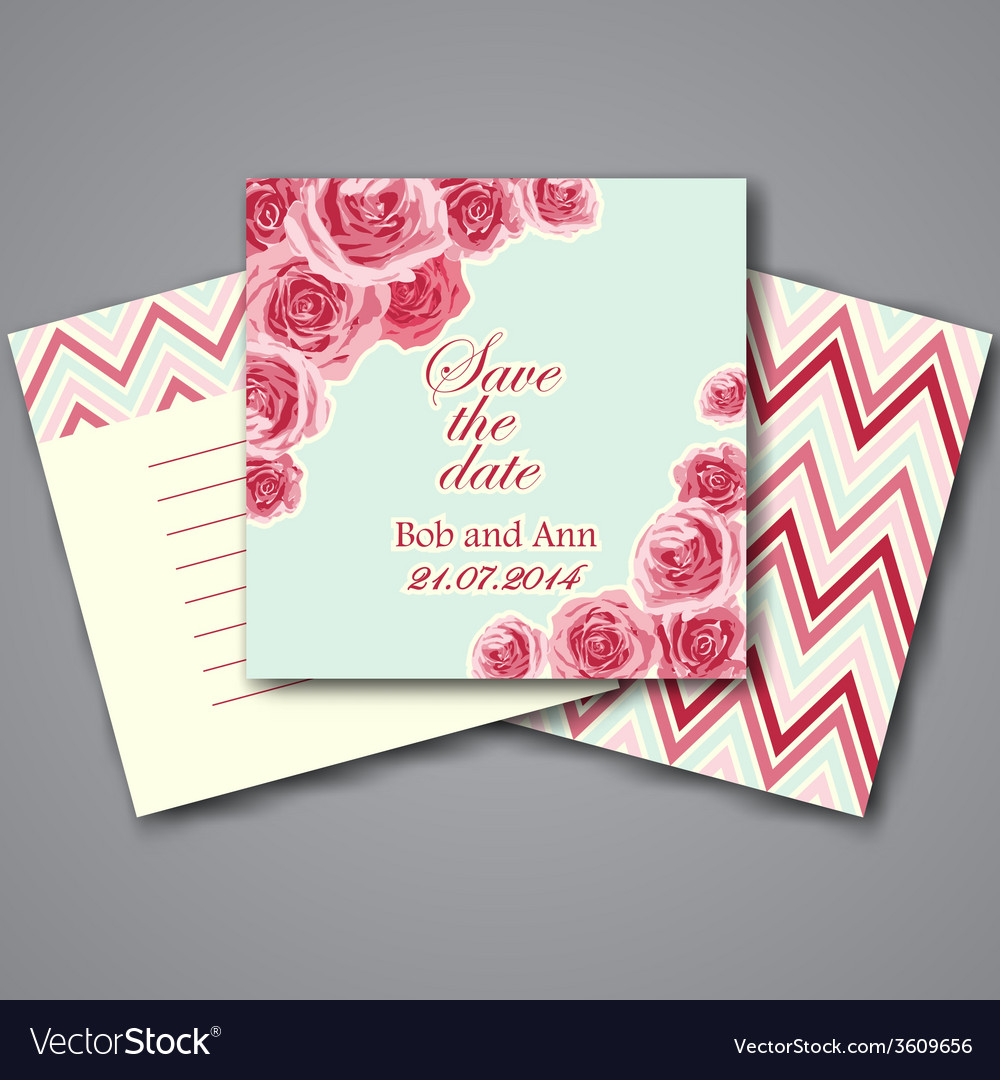 Set of valentines invitation cards vector   Price: 1 Credit (USD $1)