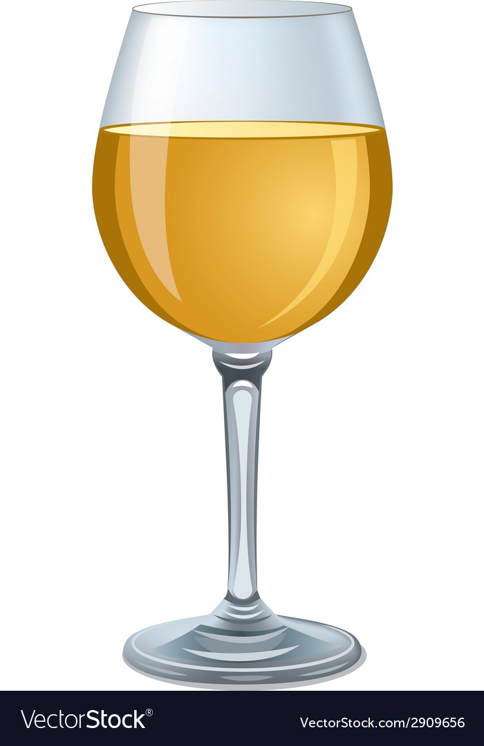 White wine glass vector | Price: 1 Credit (USD $1)