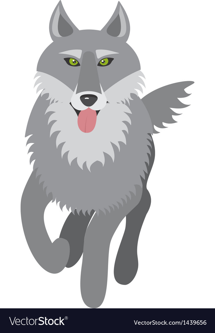 Wolf picture vector | Price: 1 Credit (USD $1)