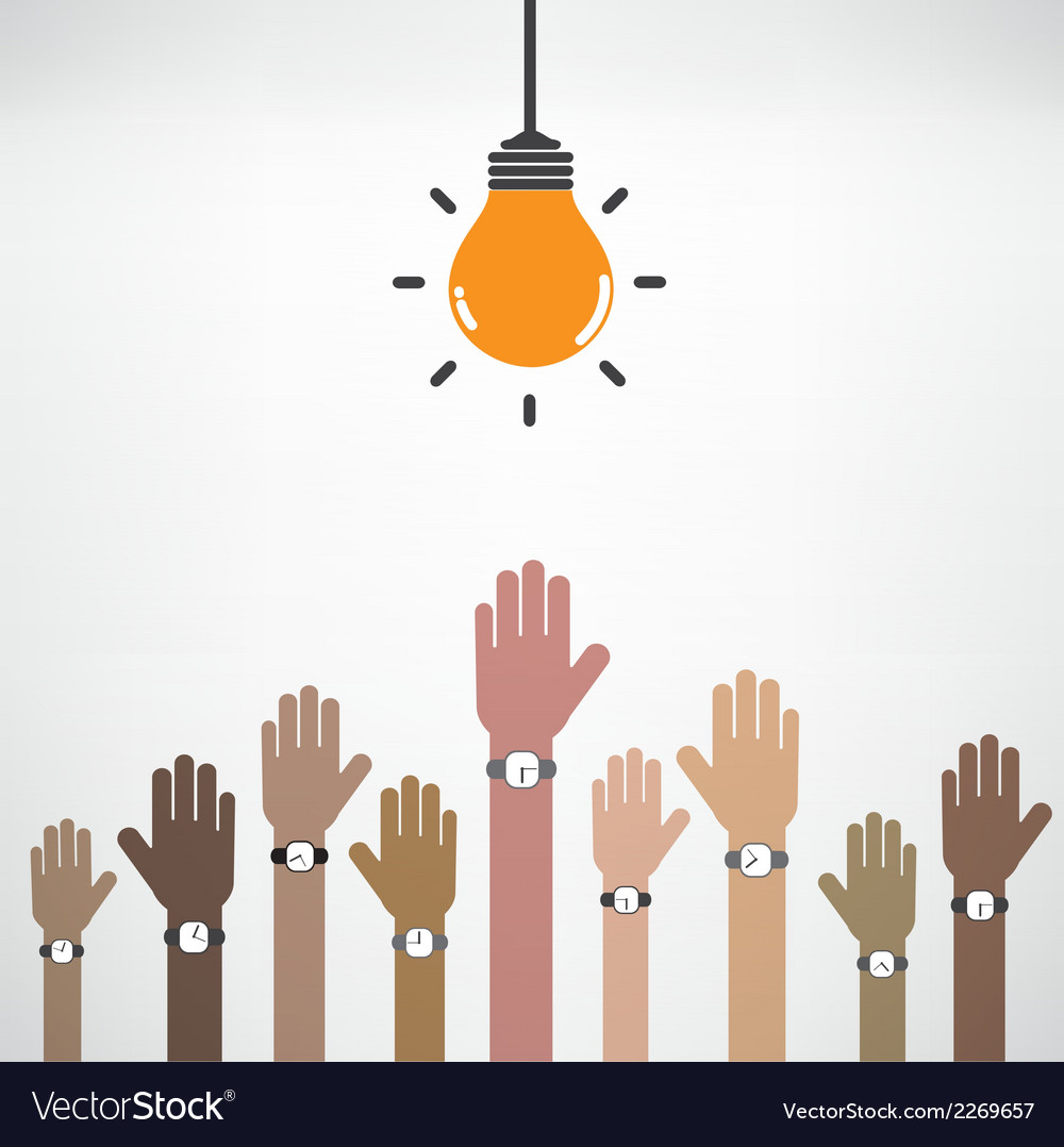 Businessman hand symbol with creative light bulb vector | Price: 1 Credit (USD $1)