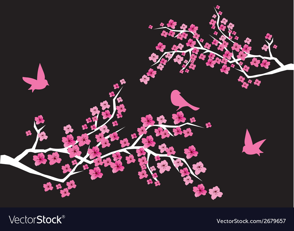 Cherry blossom vector | Price: 1 Credit (USD $1)