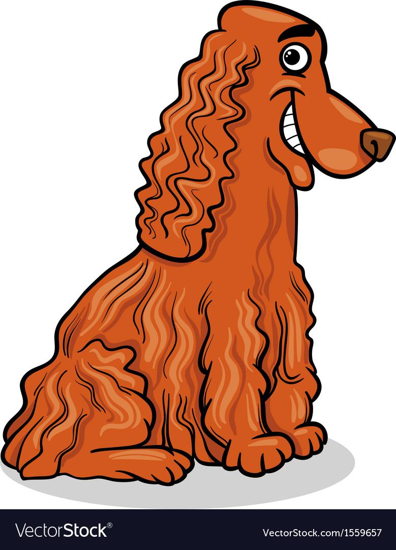 Cocker spaniel dog cartoon vector | Price: 1 Credit (USD $1)