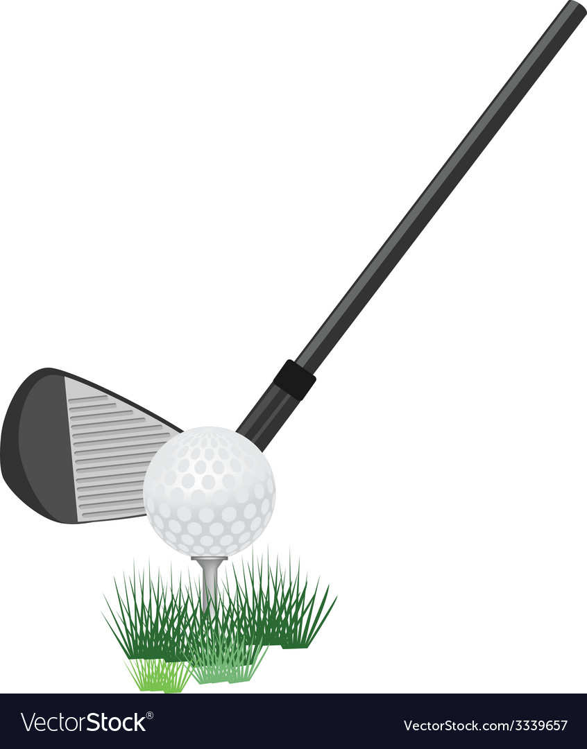 Golf ball and club vector | Price: 1 Credit (USD $1)