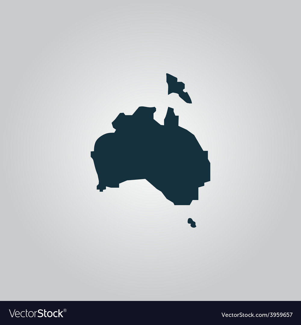 High map - australia vector | Price: 1 Credit (USD $1)