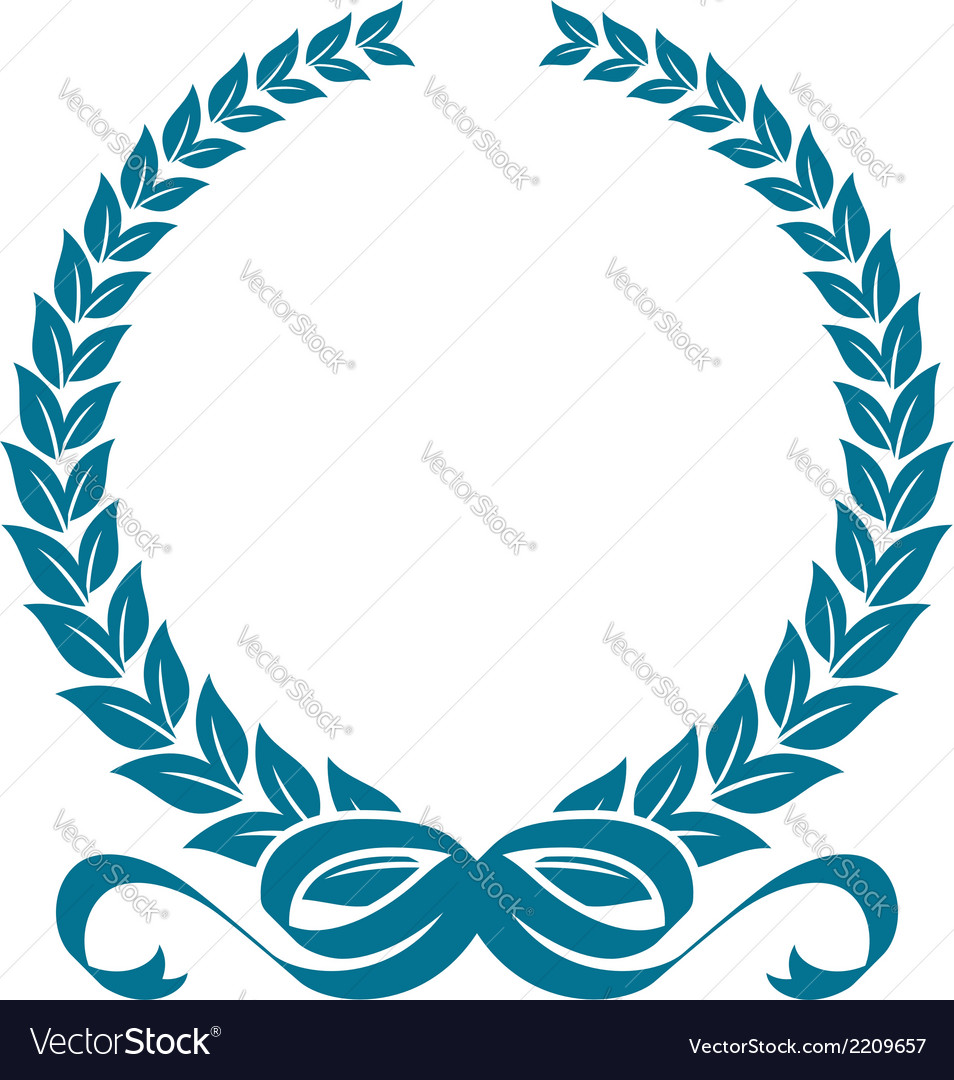 Laurel wreath with heraldic ribbons vector | Price: 1 Credit (USD $1)