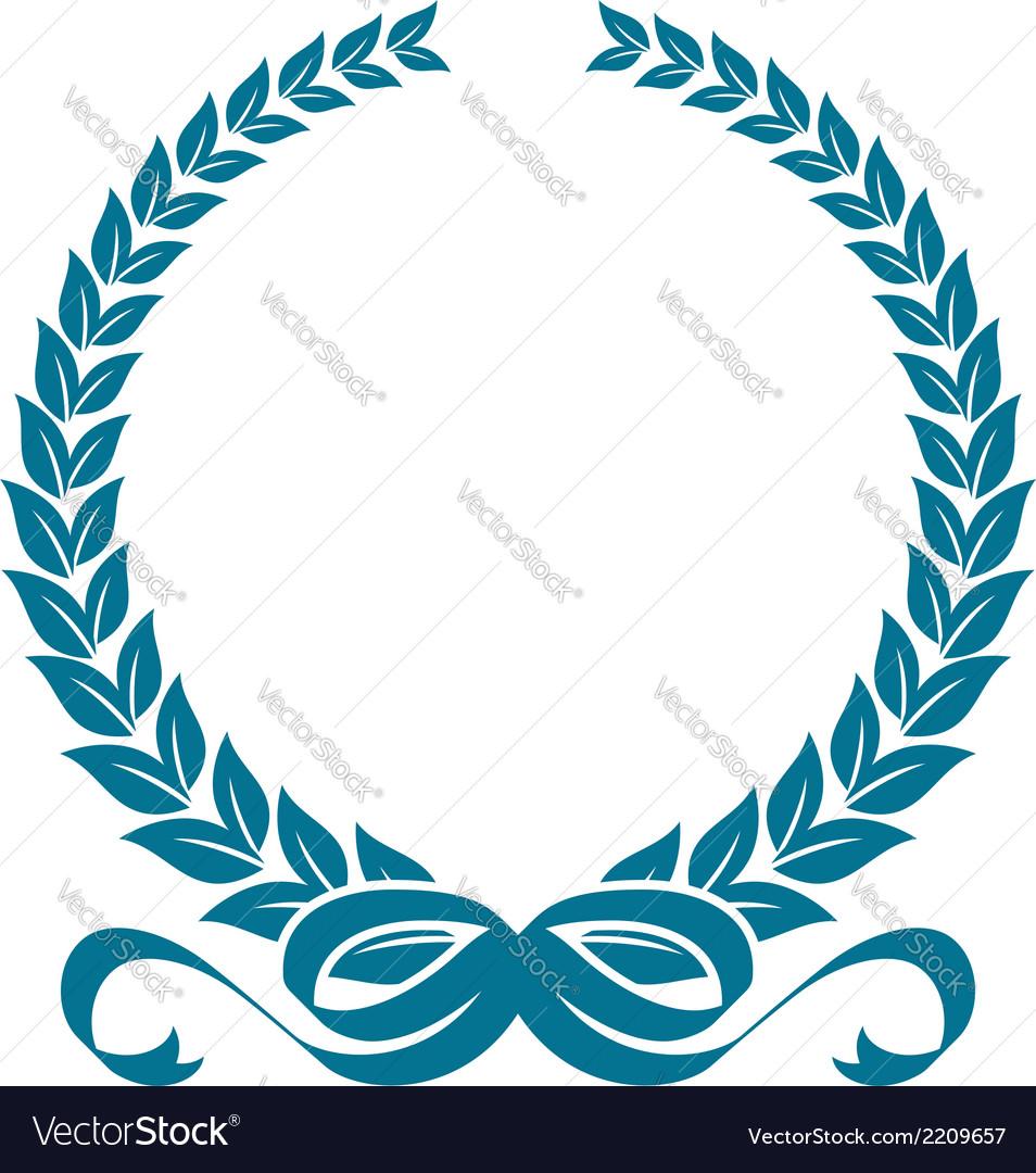 Laurel wreath with heraldic ribbons vector | Price: 1 Credit (USD $1)